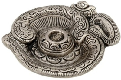 eCraftIndia Om Aluminium Incense Holder(Silver, Pack of 1)