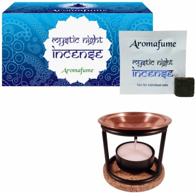 Aromafume Mystic Night Incense (Small) & Exotic Incense Diffuser Iron Incense Holder Set