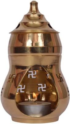 Starstell Brass Camphor Diffuser Kapoor Lamp Brass Incense Holder Set