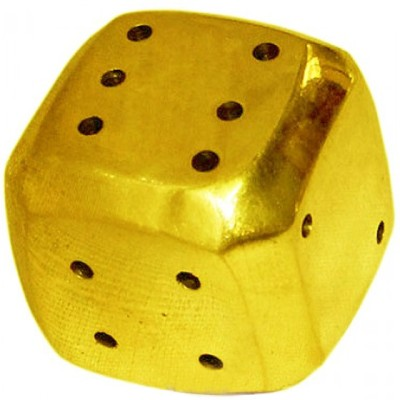 Vedic Vaani Dice incense holder Brass Incense Holder