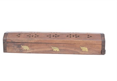Nandita Wooden Incense Holder Set(Brown, Pack of 1)