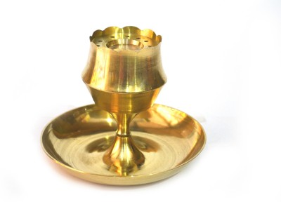 SKM Stand Plate Brass Incense Holder