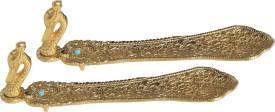 Handicrafts Paradise Aluminium Incense Holder Set(Gold)