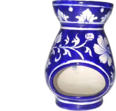 Fab Store Blue Pottery Oil Burner Pottery Incense Holder