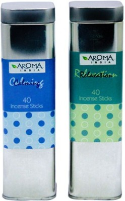 Aroma India Scented Incense Sticks in Square Tin Relaxing & Calming Incense Sticks