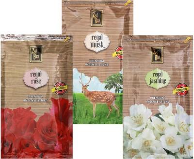 Zed Black Different Fragrances Regal Rose,Regal Jasmine,Regal Musk Combo of 3 Premium Incense Sticks