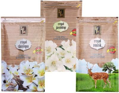 Zed Black Different Fragrances Regal Champa,Regal Jasmine,Regal Musk Combo of 3 Premium Incense Sticks