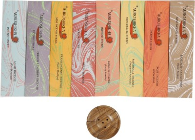Auroshikha Shiva Agarbaties contains 8 packets of 15 stick each packet with one incense holder Incense Sticks