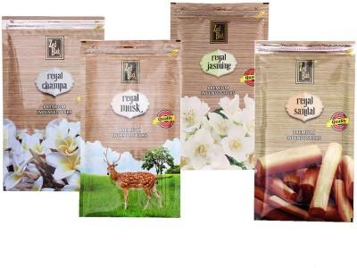 Zed Black Different Fragrances Regal Sandal,Regal Champa,Regal Jasmine,Regal Musk Combo of 4 Premium Incense Sticks