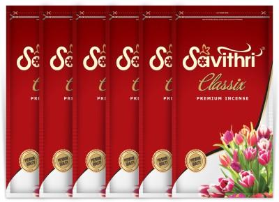 Gopikaa Savithri Classix Zipper Pouch (Pack of - 06) Bouquet Incense Sticks