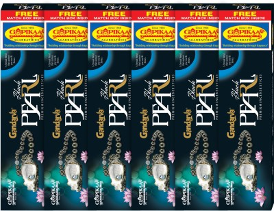 Gopikaa Black Pearl ( Pack of 6 ) (Free Match box inside) Woody Linger Incense Sticks