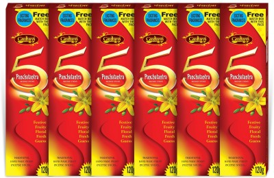 Gopikaa Panchatantra - Pack of-06 (Free Match Box inside) 5 Assorted Fragrance Incense Sticks