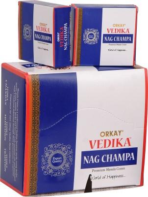 Vedika Nag Champa Masala Cones (Natural Dhoop Batti) Incense Sticks