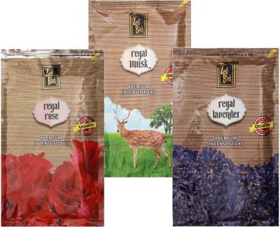 Zed Black Different Fragrances Regal Rose,Regal Musk,Regal Lavender Combo of 3 Premium Incense Sticks