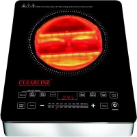 Clearline 9 Preset Cooking Functions Induction Cooktop(Black, Silver, Touch Panel)