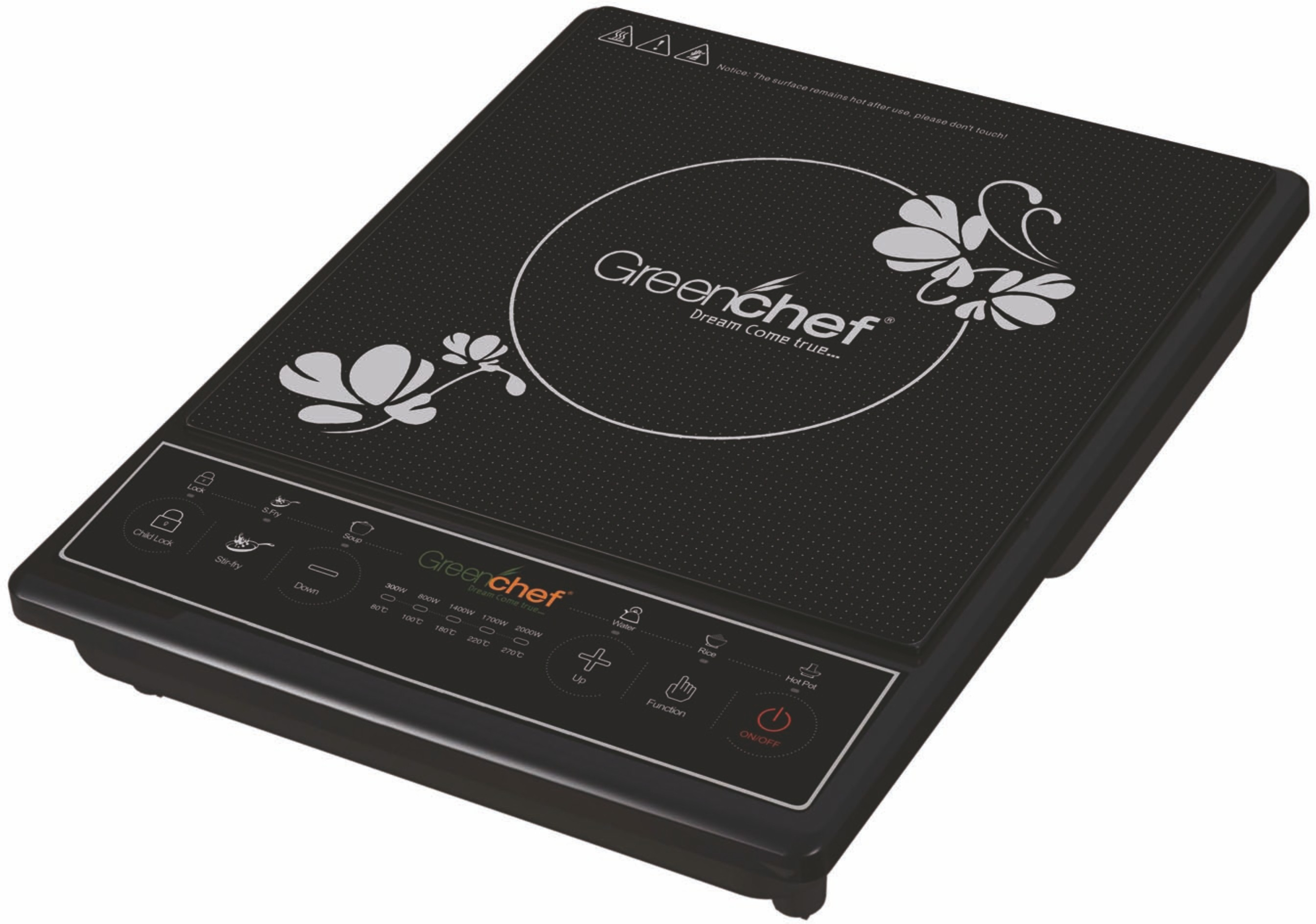 Greenchef SMART Induction Cooktop(Black, Push Button)