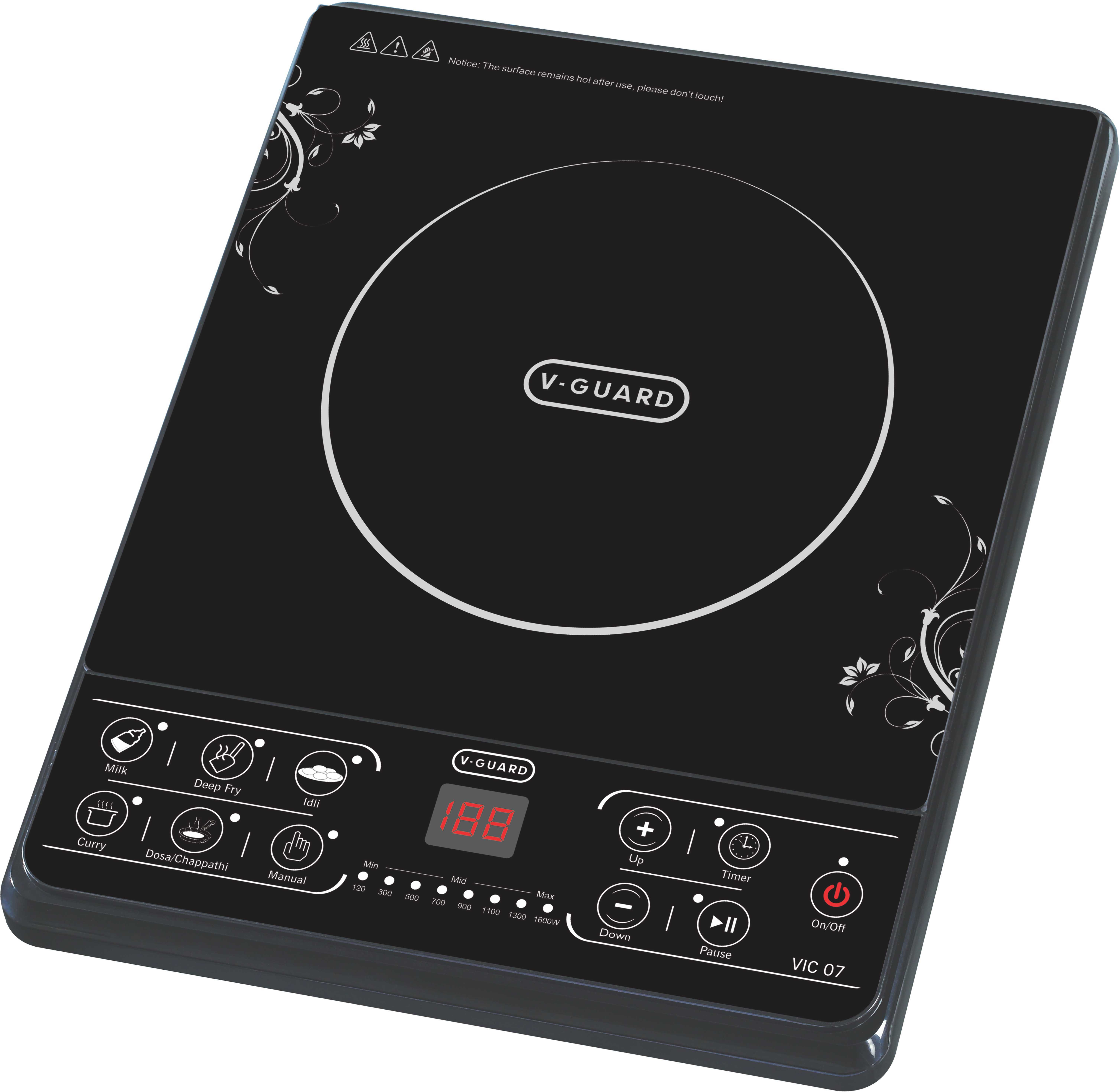 V Guard VIC 07 Induction Cooktop(Black, Push Button)