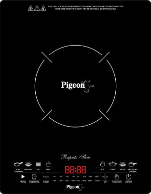 Pigeon Rapido Slim Induction Cooktop(Black, Touch Panel)