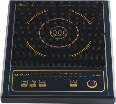 Bajaj Popular Induction Cooktop(Black, Touch Panel)