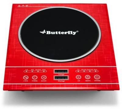Butterfly Diamond Induction Cooktop(Red, Touch Panel)