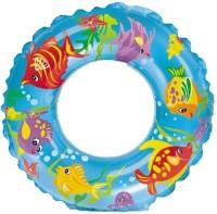 Intex Ocean Reef Transparent Inflatable Swim Ring(Blue)