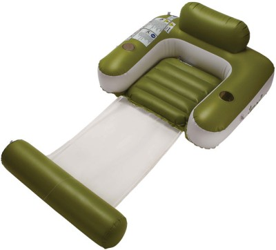 Jilong UV-Cut Sun-Shaded Inflatable Lounger(Green)