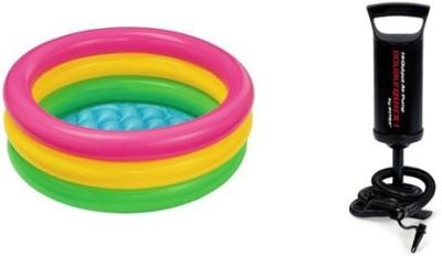 Jainsoneretail Intex 3 Feet Kids Water Bath Tub & Air Pump Inflatable Combo