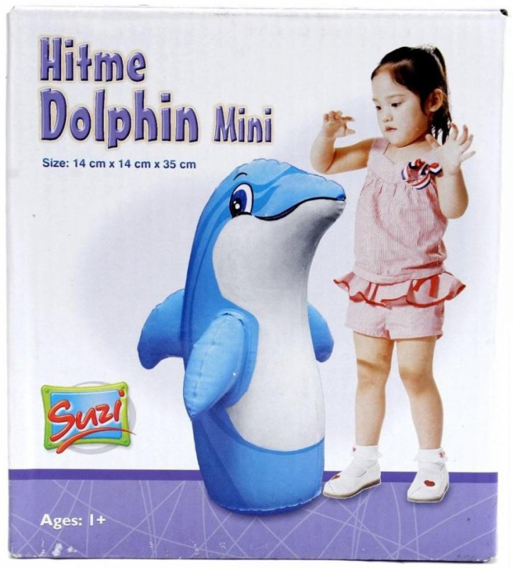 Suzi Hitme Dolphin Mini Inflatable Soft(Multicolor)