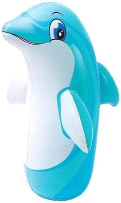 Aarushi Inflatable Hit Me Dolphin Inflatable Bouncer(Blue)