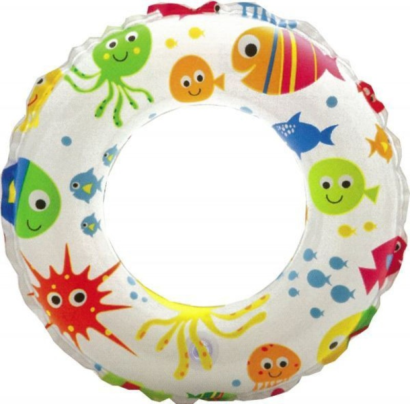 Intex Swim Inflatable Ring(Multicolor)