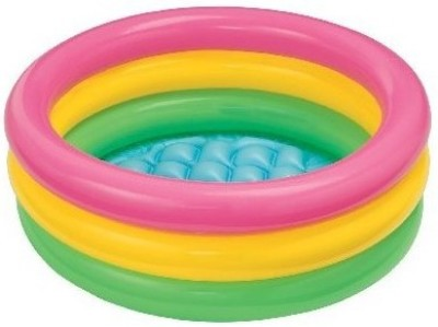Yash Novelty Three Ring Swimming For Kids Inflatable Pool(Multi)