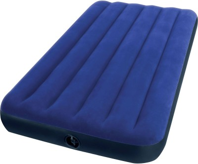 Intex Gold Dust Single Air Lock QUA1105 Inflatable Bed(Blue)