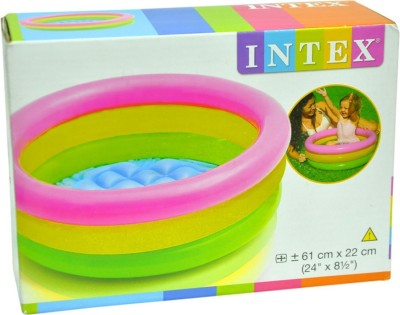 intex 5ft water tub for kids inflatable pool multicolor available at flipkart for. Black Bedroom Furniture Sets. Home Design Ideas