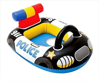 Intex Kiddie Swim Pool Water Float Ring Cruiser Police Car Shape Inflatable For Ages 1+ Years