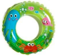 Intex Ocean Reef Transparent Inflatable Swim Ring(Green)