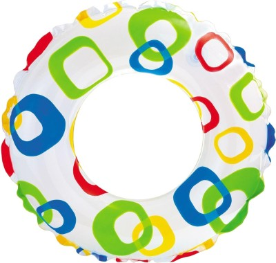 Intex Lively Print Swim Ring - Square Inflatable Water Games