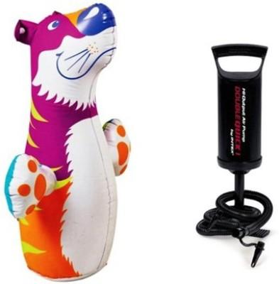 Jainsoneretail Intex 3-D Punching Bop Bag Tiger Shape Bouncer & Air Pump Inflatable Combo
