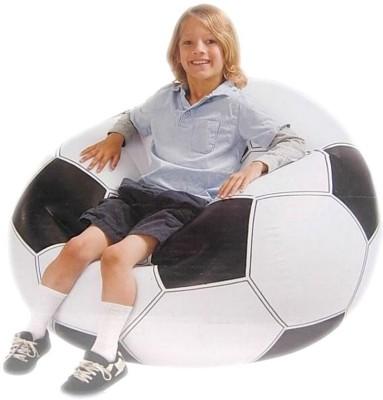 Gauba Traders beanless bag Inflatable Sofa/ Chair(black&white)