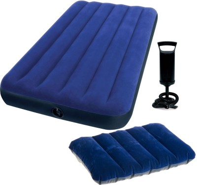 Intex Gold Dust Pump with Air Lock Pillow & Single Inflatable Bed
