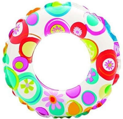 Intex Kids Circular Inflatable Swim Ring Float Size 61 cm, For Ages 6 - 10 Years