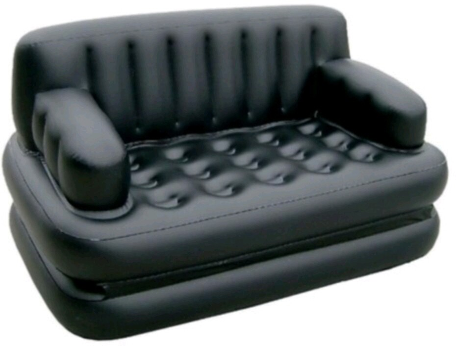 View Jigi & Joons easy way sofa cum bed PP 3 Seater Inflatable Sofa(Color - Black) Furniture (Jigi & Joons)