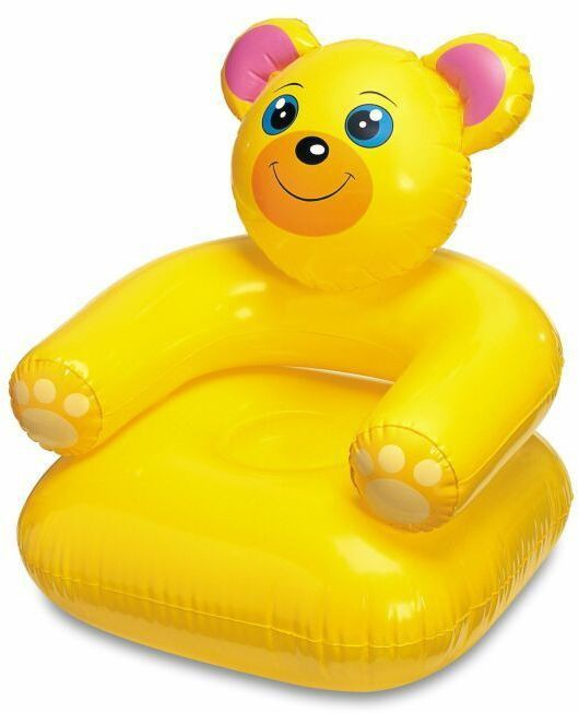 View Skys&Ray teddy PVC 1 Seater Inflatable Sofa(Color - Yellow) Furniture (Skys&Ray)