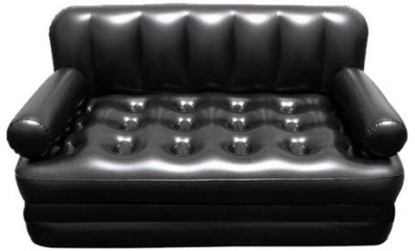 View Lovato easy way sofa cum bed PP 3 Seater Inflatable Sofa(Color - black) Furniture (Lovato)