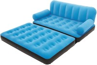 Evana Vinyl 2 Seater Inflatable Sofa(Color - Blue)