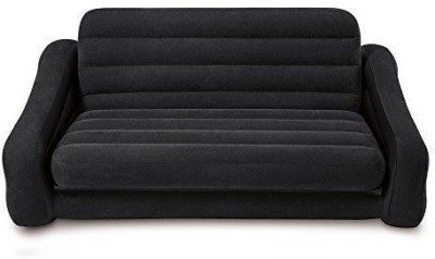 Intex PVC 4 Seater Inflatable Sofa(Color - Black)