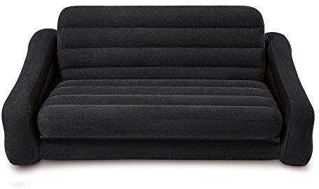 View Intex Velvet 4 Seater Inflatable Sofa(Color - black) Furniture (Intex)