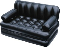 Best Way PP 3 Seater Inflatable Sofa(Color - Black)