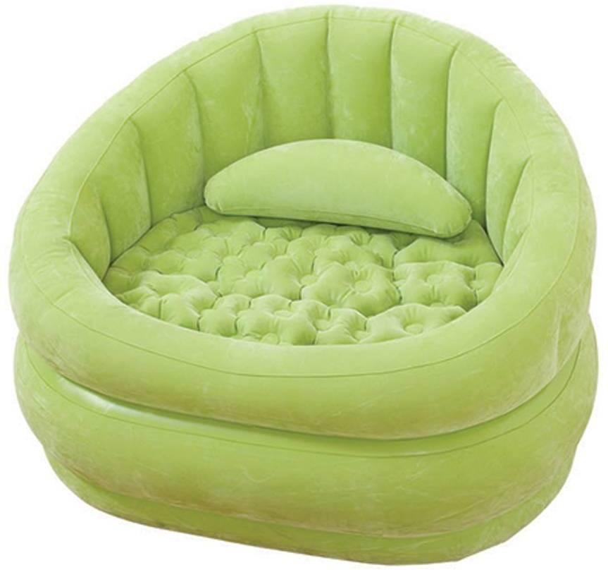 View Intex 68563 Vinyl 1 Seater Inflatable Sofa(Color - Green) Furniture (Intex)