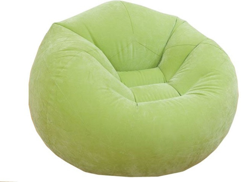 Intex 68569 Vinyl 1 Seater Inflatable Sofa(Color - Green)