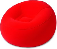 Best Way Karmax Inflate-A-Chair (Red) PVC 1 Seater Inflatable Sofa(Color - Red)